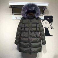 Wholesale Army Hood Jacket - M242 parkas for women winter famous Women jacket anorak women coats with real fox fur hood parka women jackets