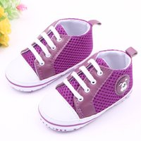 Wholesale Wholesale Vintage Baby Shoes - Wholesale- Children Baby Kids Boy Girl Vintage Classic Floor Shoes Mesh Breathability Non-Slip Soft Toddlers First Walkers