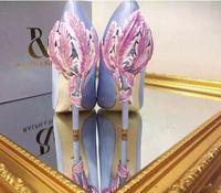 Wholesale Burgundy Pumps For Women - Gold Leave Eden Heel 2017 navy blue burgundy white black champagne shoes for wedding silk bridal heels evening prom shoes