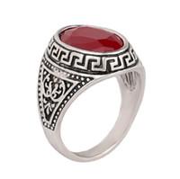 ingrosso gioielli in pietra coreana-2016 gioielli moda coreana di modo caldo in pietra antica argento scolpito estate gioielli vintage europeo e americano anello