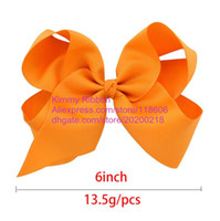Wholesale Wholesale Wide Ribbon Grosgrain - 100pcs White Grosgrain Ribbon Toddler Hairbow - 6 Inches Wide