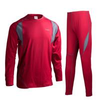 Wholesale Thermal Underwear Shorts - Wholesale-Men Winter Sports POLARTEC Thermal Underwear Men Warm Long Johns Men For Ski Hiking Snowboard Cycling Base Layers