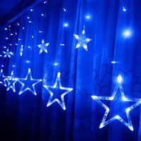 Venta al mayor- EXCELVAN 138 LEDs 2m / 6.6ft Star String Light Light (6 Big 6 Small) 8 modos de flasheo con memoria, utilizado para Wedding Festival Decor