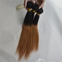 Hot Sale Ombre Brazilian Straight Hair Weaving 3 Pieces / lot 100g a Bundle Two Tone 1B / 30 Cor Unprocessed Human remi Hair Weave