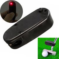 Wholesale Line Corrector - 2017 Mini Black Golf Putter Laser Pointer Putting Training Aim Line Range Finder Corrector Improve Aid Tool Golf Practice Accessories