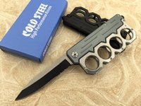 Wholesale Irons Fist - COLD STEEL B088 Iron fist 440C Knuckle Dusters Folding Knife Survival Knife Xmas knife gift knives 1pcs freeshipping
