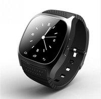 luxus-schrittzähler großhandel-Bluetooth für Smart Watch Luxus Armbanduhr M26 Uhr mit Dial SMS Erinnern Schrittzähler für Android Samsung Xiaomi Telefon