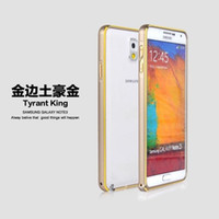 Wholesale Thin Aluminum Galaxy - Luxury Aluminum Ultra Thin Bumper for Samsung Galaxy Note 3 Lite Note3 Neo Note3 Mini N7505 N7506V Metal Phone Back Shell