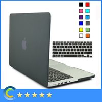 Wholesale Rubberized Cover Macbook Pro 15 - Matte Rubberized Shell Case with Silicone keyboard Cover for New Mackbook 12 Retina for Macbook Air Pro Retina 11 13 15 Inch case