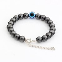 Wholesale Magnetic Round Clasp - Hot !100pcs New men and women fashions fashions Black Magnetic Hematite Round Beads Metals Alloy Loose Bead Beaded bracelets