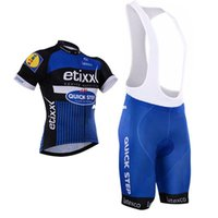 Wholesale Quickstep Shorts - Tour De France 2016 Quickstep Short Sleeves Cycling Jerseys Blue Color With Bib None Bib Pants Bike Wear Size XS-4XL Bicycle Clothing