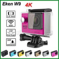 mini camara de auto deportivo al por mayor-Cámara de deportes EKEN W9 4K WIFI Cámara de video de acción Cámara impermeable 170 ° lente Mini 2
