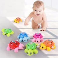 löst spielzeug großhandel-1 Stücke Baby Schildkröte Uhrwerk Spielzeug Cartoon Tier Schildkröten Mini Krabbeln Wickeln Oben Spielzeug Pädagogisches Kinder Klassisches Spielzeug Zufällige Farbe