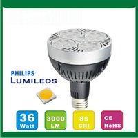 Wholesale E17 Base Led - LED high power PAR30 35W Spotlight 36pcs LED E27 base High Brightly LED Light CE RoHS EMC AC110-240V
