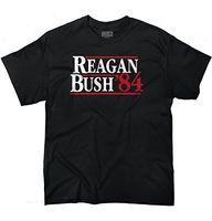 Wholesale Bush Fashion - Hot Sell 2018 Mens Fashion Polo T Shirt Ronald Reagan George Bush 84 Republican President Campaign T-Shirt for Men Tee