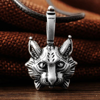 Wholesale Vintage Cat Gold Necklace - punk New Vintage Lynx Bobcat Pendant Lynx head Pendant Necklace cat Jewel Pagan Jewelry Animal Pendant Necklace Jewelry hot sale