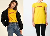 Wholesale matching top shorts - 2017 Summer Hot selling Lovers' Clothing Women &Men's letter DHL printting short sleeve T-shirt all match Couple's Tops S- 3XL