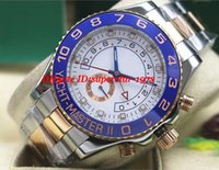 Wholesale Ii Tone - MINT II 44mm Two-Tone Rose Gold White Ceramic 116681 Watch Automatic Mechanical Men Watches Top Quality Luxury Wristwatch