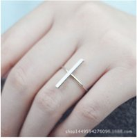 Wholesale Thin Gold Jewelry - Factory wholesale European and American minimalist word rings rings thin models new jewelry mixed batch stall supply