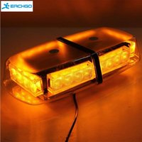 12V 24 LED Amber Car Aviso de Perigo de Emergência Caminhão de carro intermitente LED Top Roof Mini Bar Strobe Light Warning Strobe Light