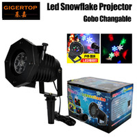 Gigertop TP-E33 5W Waterproof Led Snowflake Light Suporte Gobo Plate Change Ip65 Garden Tree Building Gobo Led Projector Outdoor