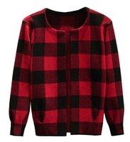 Wholesale Korean Winter Wear Women - 2016 Autumn and Winter Women's Casual Wear Wild Item Grid Coat Knitted Sweater New Style of Korean