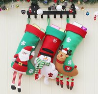 3 stili Calze di Natale Decor Ornament Decorazioni per feste Babbo Natale calza Candy Socks Borse Regali di Natale Borsa New Hot