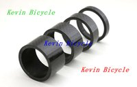 Wholesale Carbon Headset - Full carbon bike headset spacer, ultra light, 4 pcs a set Fits 1-1 8