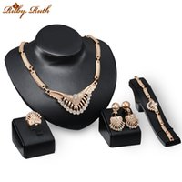 Wholesale Tin Jewellery China - 2016 jewelry set african new Necklace Earrings Ring Bracelet Set For Women 18k Gold Plated Crystal Jewellery The wedding gift