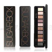 Wholesale Vintage Smoky - HOT Sugarbox 10 color Eyeshadow Makeup Eyeshadow Palette Diamond Vintage smoky eye shadow dhl free shipping