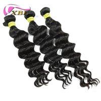 Wholesale Customize Hair Extensions - Unprocessed Human Hair Brazilian Virgin Hair Loose Body Customized 12-24 inches Hair Extensions Brazilian Hair Weave Bundles