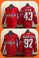 Wholesale Hot Washington - 2016 New Wholesale Washington Capitals 43 Wilson 92 kuznetsov red Top quality Hockey jerseys Drop Shipping Hot Sale Stiched Logos Mix orders