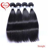 bakire saç düz inç toptan satış-Toptan 9A Brezilyalı Saç Perulu Hint Malezya Kamboçyalı Işlenmemiş Düz Virgin İnsan Saç Demetleri Boyanabilir İnsan Saç Uzantıları