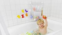 cantos de transporte plástico venda por atacado-Bem usar prateleiras casa de banho, crianças grande saco de brinquedos de banho, saco de armazenamento de banho, tem três cores