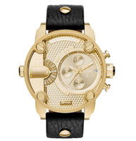 dz stahl großhandel-Marke neue Uhren Mens Brand Luxury DZ Stahl Leder Quarzuhr Männer Casual Wasserdichte Uhr Männer Sport Armbanduhr Relogio Masculino