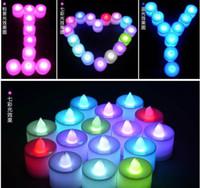 Wholesale Tea Light Candles Sales - Hot sale 24pcs lot New Flickering 24 Flicker Light Flameless LED Tealight Tea Candles Wedding Light