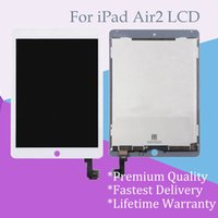 Wholesale Display Touch Ipad - Wholesale for iPad Air2 Black and White LCD Touch Screen Display Digitizer Assembly Replacement OEM A+++ Quality Black & White