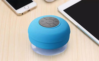 Wholesale mini speaker iphone - Mini Portable Subwoofer Shower Waterproof Wireless Bluetooth Speaker Car Handsfree Receive Call Music Suction Mic For iPhone Samsung