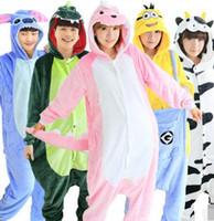Wholesale Adult Kigurumi Onesies - Adult Flannel Poke Pajamas Animal Onesies Anime Cosplay Sleepwears Halloween Costume Hoodies Rompers Winter Kigurumi Homewear 2pcs