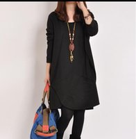 Wholesale Maternity Spring Outerwear - Maternity clothing autumn and winter fashion 2014 irregular loose plus size maternity outerwear one-piece dress