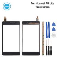 huawei mobile zubehör großhandel-Großhandels-Für Huawei P8 Lite Touch Screen Original 5,0 zoll Touch Panel Perfekte Reparatur für Huawei P8 Lite Mobile Zubehör Kostenloser Versand
