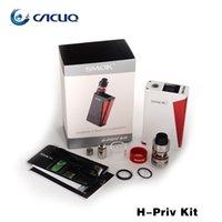 Wholesale Evic Kit Electronic Cigarette - electronic cigarettes Authentic Smok H Priv Kit ecigarette Vape Micro TFV4 Tank 220w H-Priv TC Mod Box vs Joyetech Evic vtwo mini