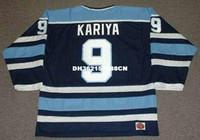 Wholesale Custom Bear - Cheap custom retro PAUL KARIYA Maine Black Bears 1993 NCAA Jerseys Throwback Hockey Jersey