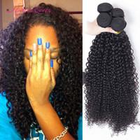 Wholesale Weave Bulk Sale - Unprocessed Brazilian Afro Kinky Curly Human Hair Weave For Sale 4pcs Cheap Brazilian Hair Extensions Kinky Jerry Curly Hair Weft Weave Bulk