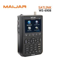 Wholesale Meters For Satellite - Digital Satellite Finder Meter WS6908 Satlink WS6908 For Strength Signal Search DVB-S Auto Blind Manual Search Mode
