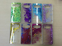 Wholesale Glitter Galaxy Ace - Bling Liquid Quicksand Star Glitter Hard Plastic Case For Galaxy S8 Plus S7 Edge Core Prime G360 J1 ACE A510 A710 A310 S6 Plus Sparkle Skin