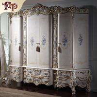armario empotrado de madera maciza de lujo muebles de la reina barroco guardarropa