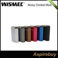 Wholesale Hybrid Mods - 100% Original Wismec Noisy Cricket Mod SMPL Style Button Hybrid Adaptor Bottom 18650 Box Mod Best For Indestructible RDA Atomizer