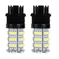 Wholesale 3157 white - 10Pcs LED Car Light Bulb 3157 54Smd 3528 12V White LED Bulb DRL Daytime Running Turn Signals Backup Reverse Light Universal LED Lamp