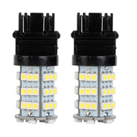 3157 geführtes auto weiß großhandel-10Pcs LED Auto Glühbirne 3157 54Smd 3528 12V Weiß LED Lampe DRL Tagfahrlicht Blinker Backup Rücklicht Universal-LED-Lampe
